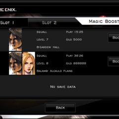 The Magic Booster menu.