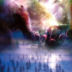 Concept art of the Thunder Plains concert in <i>Final Fantasy X-2</i>.