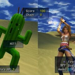 Cactuar Hunt minigame in <i>Final Fantasy X-2</i>.