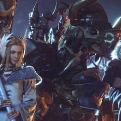 Kan-E Senna, Raubahn Aldynn and Merlwyb oversee the alliance's battle with the VIIth Legion.