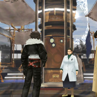 Dr. Kadowaki talking to Squall.