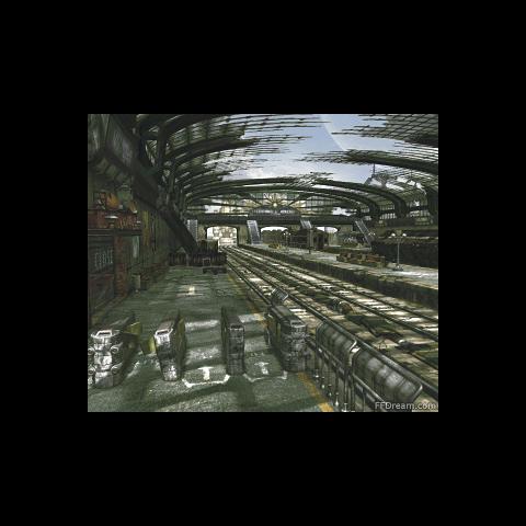 Derelict train station.