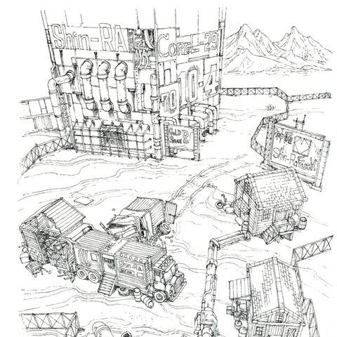 Corel Prison concept art.