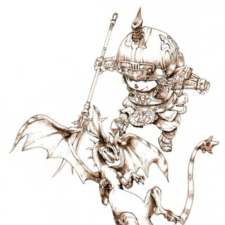 Promotional artwork of the Dragoon by Yuzuki Ikeda.