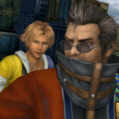 Auron and Tidus in Luca.