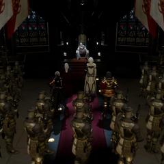 Имперские силы и император.