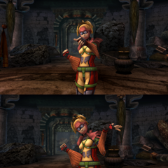 Rikku's victory pose (diving suit).