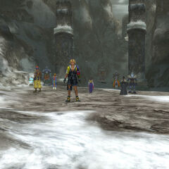 Ronso settlement on Mt. Gagazet in <i>Final Fantasy X</i>.