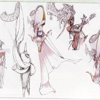 Concept art of the Eidolon Siren in <i>Final Fantasy XIII</i>.