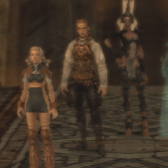 The Japanese dungeon image for <i>Tomb of Raithwall, Part 3</i> in <i>Final Fantasy Record Keeper</i>.