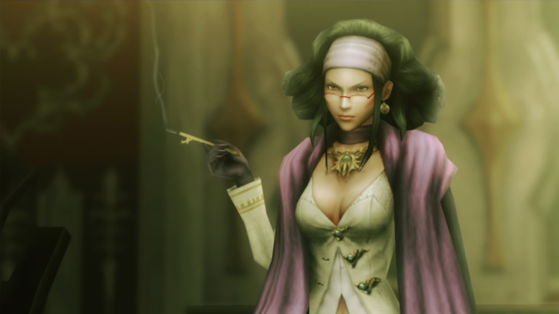 A picture of Dr. Arecia Al-Rashia from Final Fantasy Type-0
