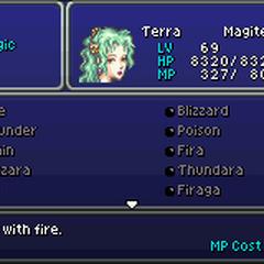The Magic menu (GBA).
