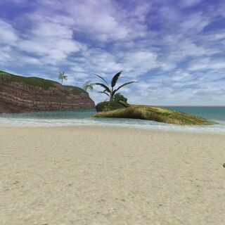 A view of Flourishing Island in Ceizak Battlegrounds.