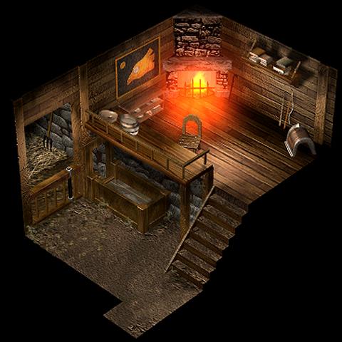 Внутри дома мудреца Чокобо.