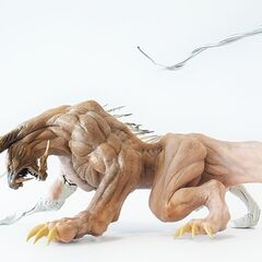 Behemoth made of clay for reference for <i>Final Fantasy XV</i>.