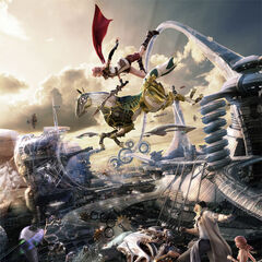 Artwork of Lightning, Snow and Vanille in Eden.