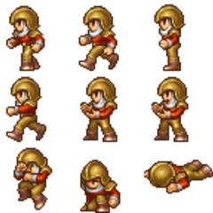 Biggs's battle sprite (PSP).