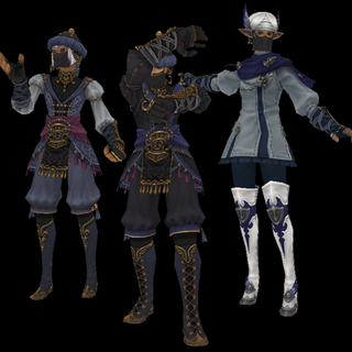 A comparison of Magus, Mirage and Mavi attire.