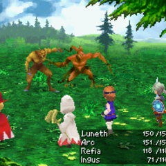 Flame Staff in <i>Final Fantasy III</i> (DS).