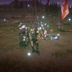 Quando está com HP 0 em batalha, Noctis pode