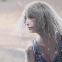 Close-up da mulher na arte.