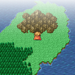 Matoya's Cave on the overworld (PSP).