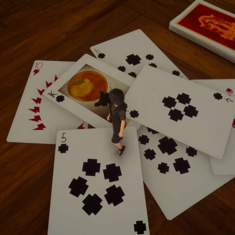 Playing cards in <i>Platinum Demo</i>.