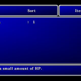 Item menu in the PSP version.