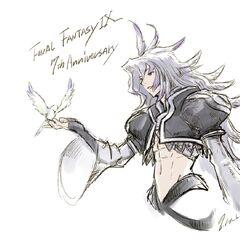 Arte para o 17º Aniversário de <i>Final Fantasy IX</i>.