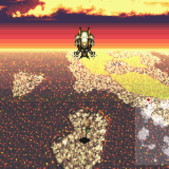 Dragon's Den in the world map (GBA).