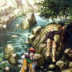 Artwork of Luso and Ramza from <i>Final Fantasy Tactics: The War of the Lions</i>.