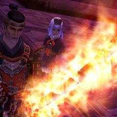 Espada de Tenzen imbuído com o poder da Phoenix.