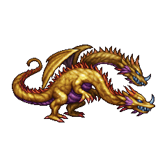 PSP sprite of Two Headed Dragon in <i>Final Fantasy</i> and <i>The After Years</i>.