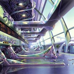 Colored concept art of the interior.