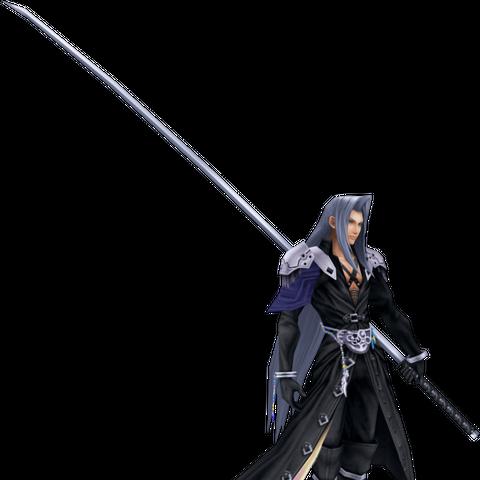 Full Image of Sephiroths Default Costume CG Model