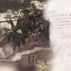 Obra de Ramuh de como ele iria aparecer em <i>Final Fantasy XIII</i>.