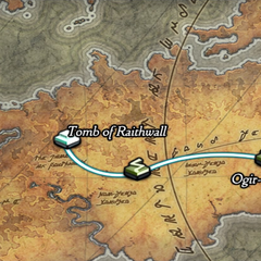 Tomb of Raithwall on the world map.