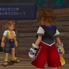 Aparência  in-game de <i>Kingdom Hearts HD 1.5 Remix</i>.