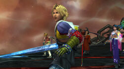 Tidus reaching out