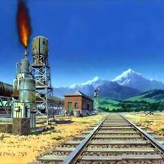 Dingo Desert Train Station (colored).