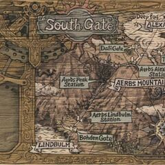 Aerbs Mountains South Gate Map.