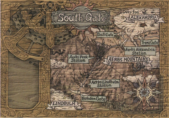 Image - Aerbs Mountains South Gate Map FFIX Art.jpg | Final Fantasy ...