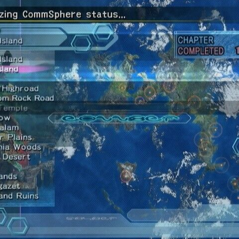 CommSphere menu (PS2).