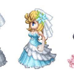 Bridal costume.