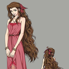 Artwork of Aerith's second dress.