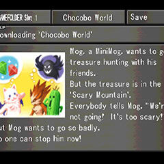 Chocobo World menu in <i>Final Fantasy VIII</i>.