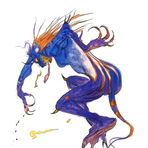 Amano artwork of transformed Unei.