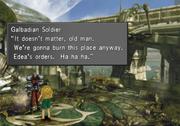 Galbadian Soldier threatens to burn FH down from FFVIII R