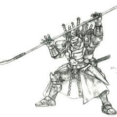 Arte para o <i>Final Fantasy V</i>.