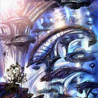 Concept art del paisaje de Terra.